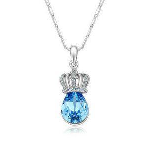 Fashion Blue Charms Crystal Rhinestone Imperial